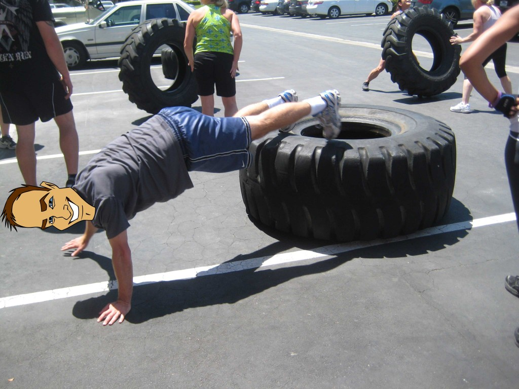 Tire and push exercise